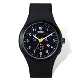 Braun Black Dial Black Silicone Strap Chronograph Watch Men's XWA4675