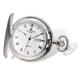 Charles Hubert Satin Finish White Dial Day/Date Pocket Watch XWA4914