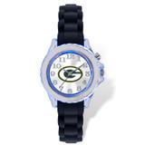 Green Bay Packers Flash Black Watch Strap Youth XWM2236