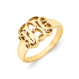 Monogram Signet Ring 10k Yellow Gold 10XNR51Y