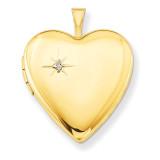 1/20 Gold Filled 20mm Diamond Heart Locket 1/20 Gold Filled 20mm QLS275-18