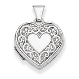 Heart Locket Sterling Silver QLS31