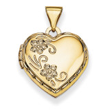 Domed Heart Locket 14k Yellow Gold XL135