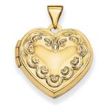 Domed Heart Locket 14k Yellow Gold XL141