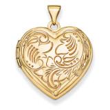 Domed Heart Locket 14k Yellow Gold XL146