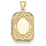 Rectangle Locket 14k Yellow Gold XL92