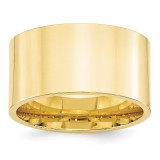 12mm Standard Flat Comfort Fit Band 10k Yellow Gold Engravable 1FLC120-13.5