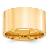 12mm Standard Flat Comfort Fit Band 14k Yellow Gold Engravable FLC120-10