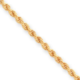 Kelly Waters 3mm Diamond Cut French Rope Chain 20 Inch Gold-plated KW471-20