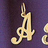 Initial A Charm Bracelet or Pendant Necklace in Yellow, White or Rose Gold DZ-9561a by Dazzlers