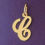 Initial C Charm Bracelet or Pendant Necklace in Yellow, White or Rose Gold DZ-9561c by Dazzlers