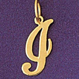 Initial I Charm Bracelet or Pendant Necklace in Yellow, White or Rose Gold DZ-9561i by Dazzlers