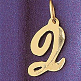 Initial Q Charm Bracelet or Pendant Necklace in Yellow, White or Rose Gold DZ-9561q by Dazzlers