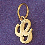 Initial G Charm Bracelet or Pendant Necklace in Yellow, White or Rose Gold DZ-9562g by Dazzlers
