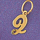 Initial Q Charm Bracelet or Pendant Necklace in Yellow, White or Rose Gold DZ-9562q by Dazzlers