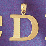 Initial D Charm Bracelet or Pendant Necklace in Yellow, White or Rose Gold DZ-9572d by Dazzlers
