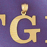 Initial G Charm Bracelet or Pendant Necklace in Yellow, White or Rose Gold DZ-9572g by Dazzlers