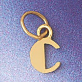 Initial C Charm Bracelet or Pendant Necklace in Yellow, White or Rose Gold DZ-9567c by Dazzlers