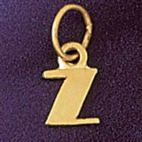 Initial Z Charm Bracelet or Pendant Necklace in Yellow, White or Rose Gold DZ-9567z by Dazzlers