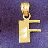 Initial F Charm Bracelet or Pendant Necklace in Yellow, White or Rose Gold DZ-9568f by Dazzlers