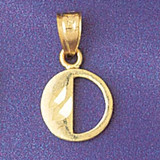 Initial O Charm Bracelet or Pendant Necklace in Yellow, White or Rose Gold DZ-9568o by Dazzlers