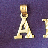Initial A Charm Bracelet or Pendant Necklace in Yellow, White or Rose Gold DZ-9570a by Dazzlers