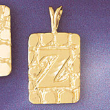 Initial Z Charm Bracelet or Pendant Necklace in Yellow, White or Rose Gold DZ-9576z by Dazzlers