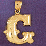 Initial G Charm Bracelet or Pendant Necklace in Yellow, White or Rose Gold DZ-9577g by Dazzlers