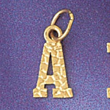 Initial A Charm Bracelet or Pendant Necklace in Yellow, White or Rose Gold DZ-9573a by Dazzlers