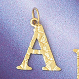 Initial A Charm Bracelet or Pendant Necklace in Yellow, White or Rose Gold DZ-9574a by Dazzlers