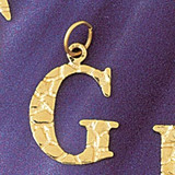 Initial G Charm Bracelet or Pendant Necklace in Yellow, White or Rose Gold DZ-9574g by Dazzlers