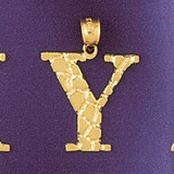Initial Y Charm Bracelet or Pendant Necklace in Yellow, White or Rose Gold DZ-9575y by Dazzlers