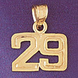 Number 29 Charm Bracelet or Pendant Necklace in Yellow, White or Rose Gold DZ-951129 by Dazzlers