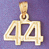 Number 44 Charm Bracelet or Pendant Necklace in Yellow, White or Rose Gold DZ-951144 by Dazzlers