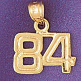 Number 84 Charm Bracelet or Pendant Necklace in Yellow, White or Rose Gold DZ-951184 by Dazzlers
