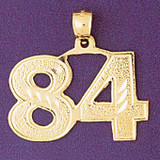 Number 84 Charm Bracelet or Pendant Necklace in Yellow, White or Rose Gold DZ-950984 by Dazzlers