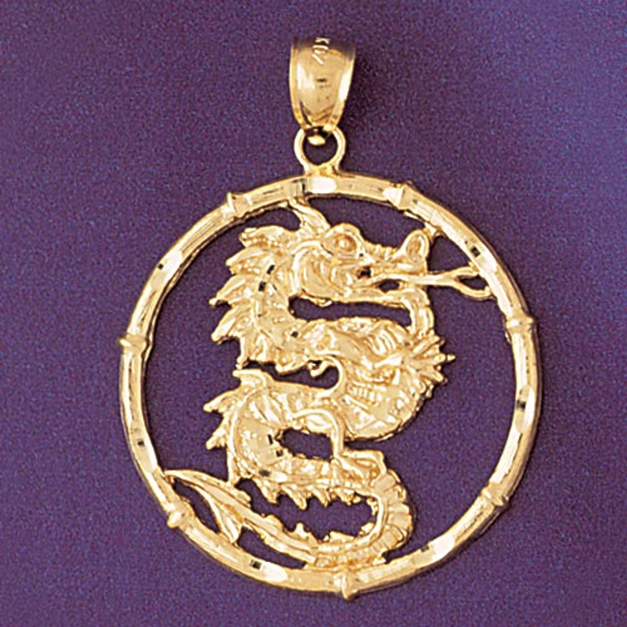 Dragon Chinese Zodiac Pendant Necklace Charm Bracelet in Gold or Silver 9307