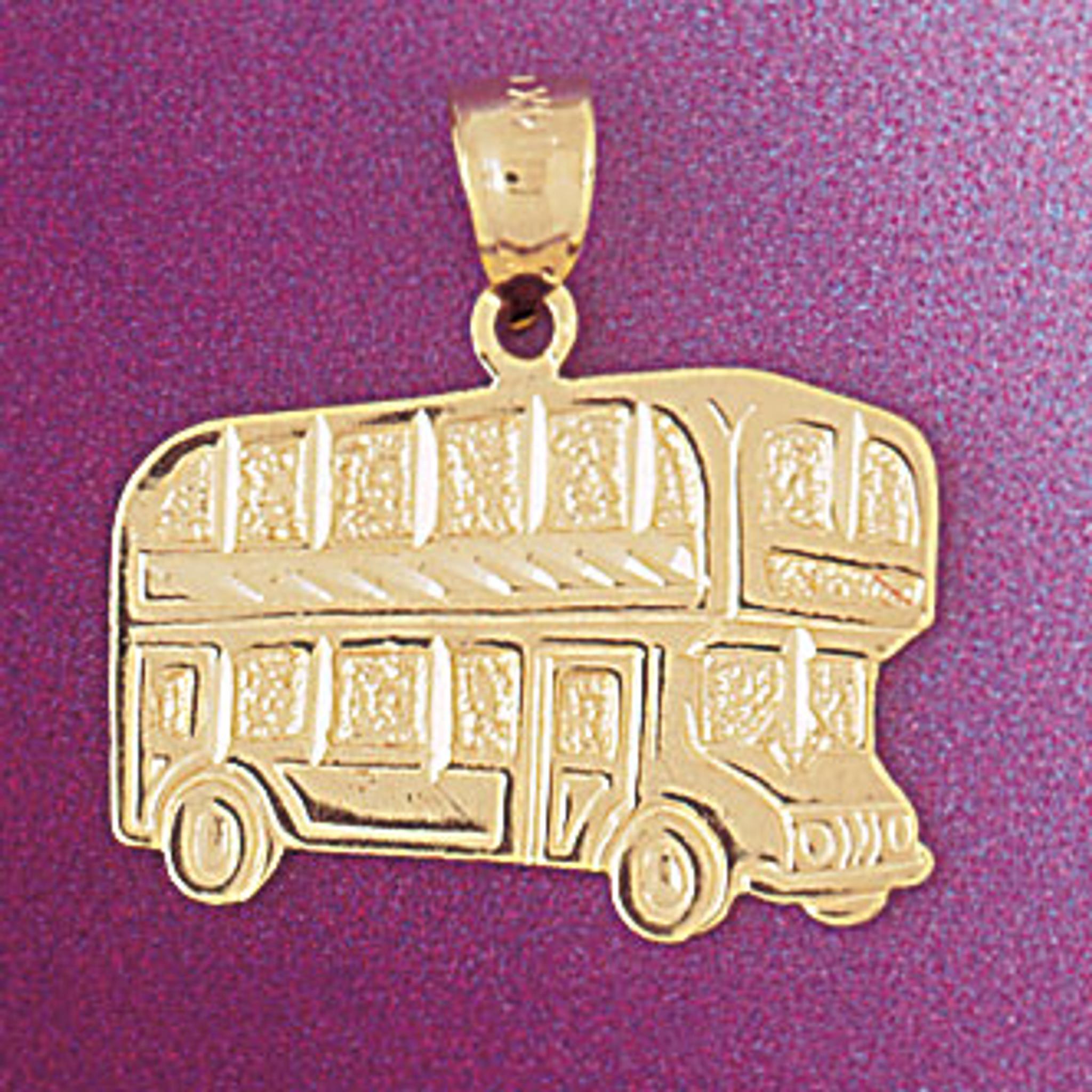 Sterling Silver Reflections Enamel London Double Decker Bus Bead