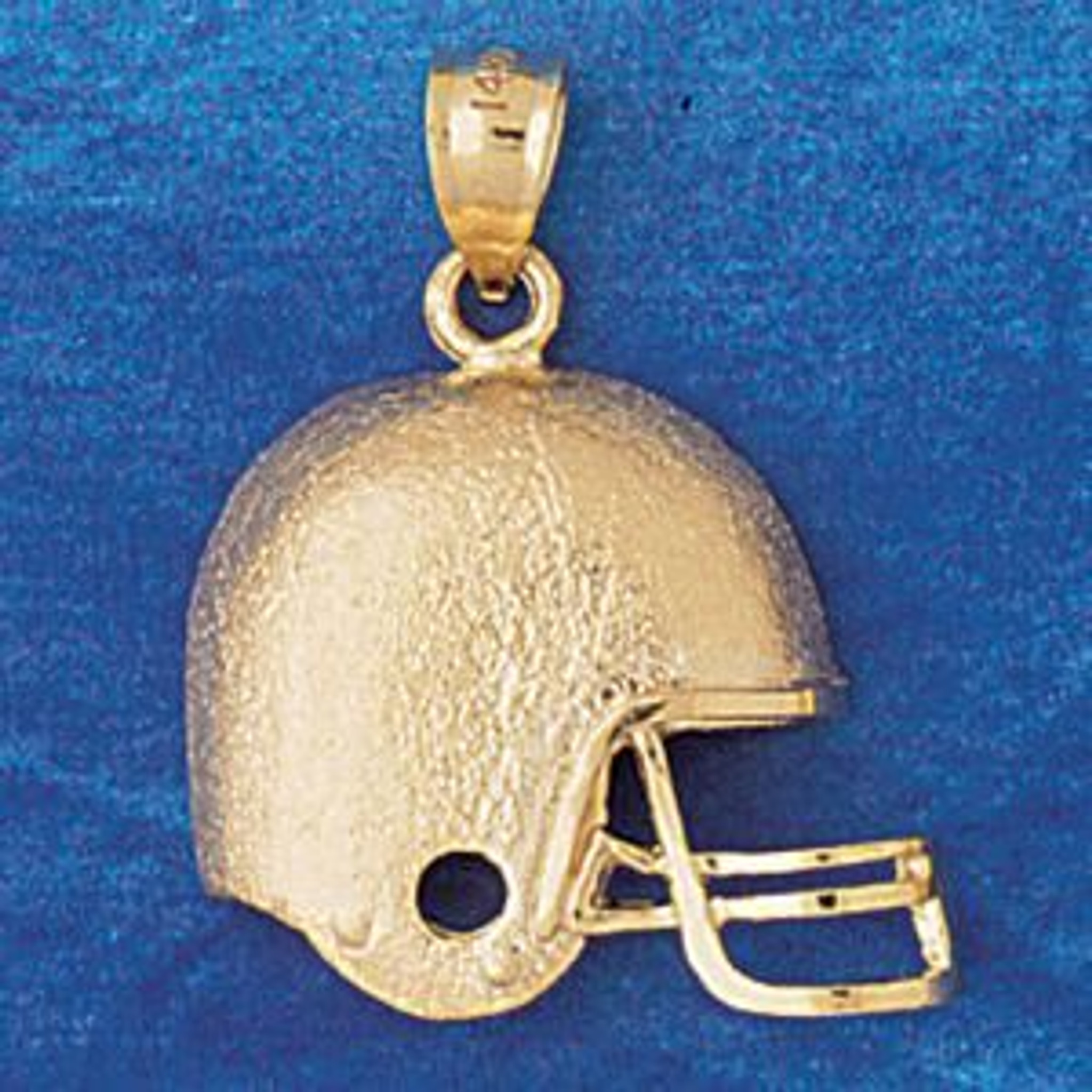 .925 Sterling Silver USA Football Helmet Charm Pendant