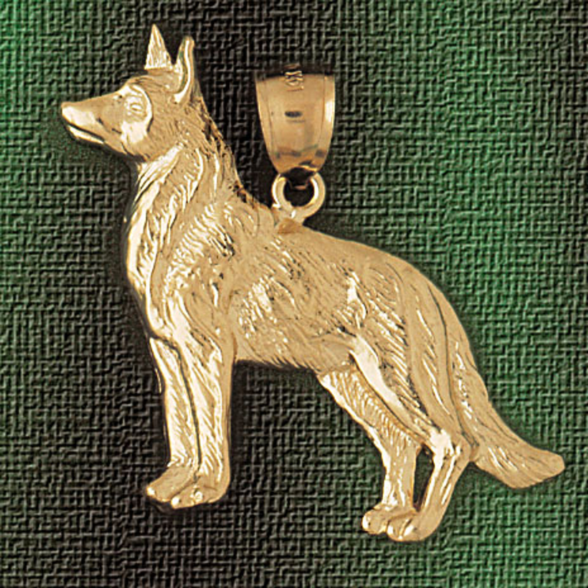12cb0a078e53d German Shepherd Dog Pendant Necklace Charm Bracelet in Gold or Silver 2142