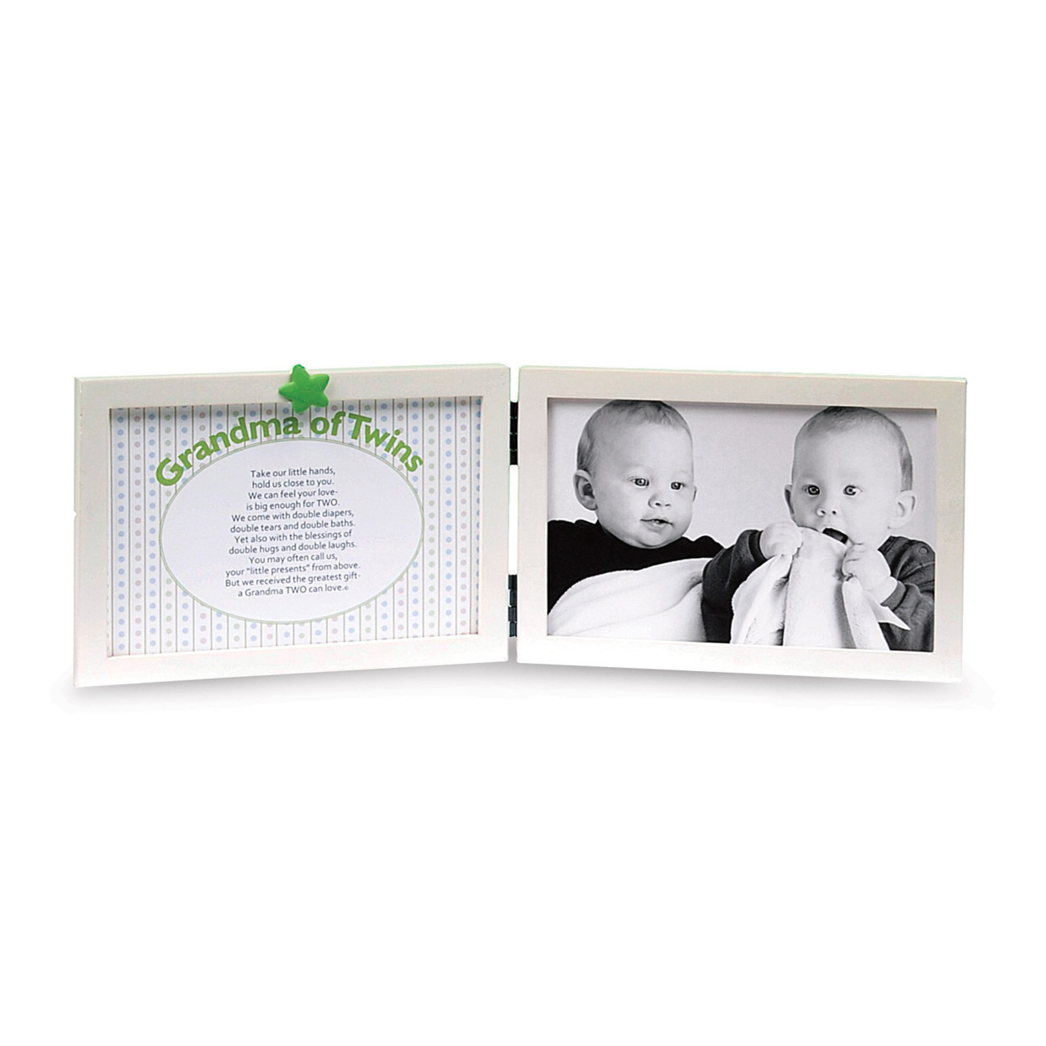 Double Photo Frame Holds 2 Photographs 6 x 4 Twin Picture Frame White Black