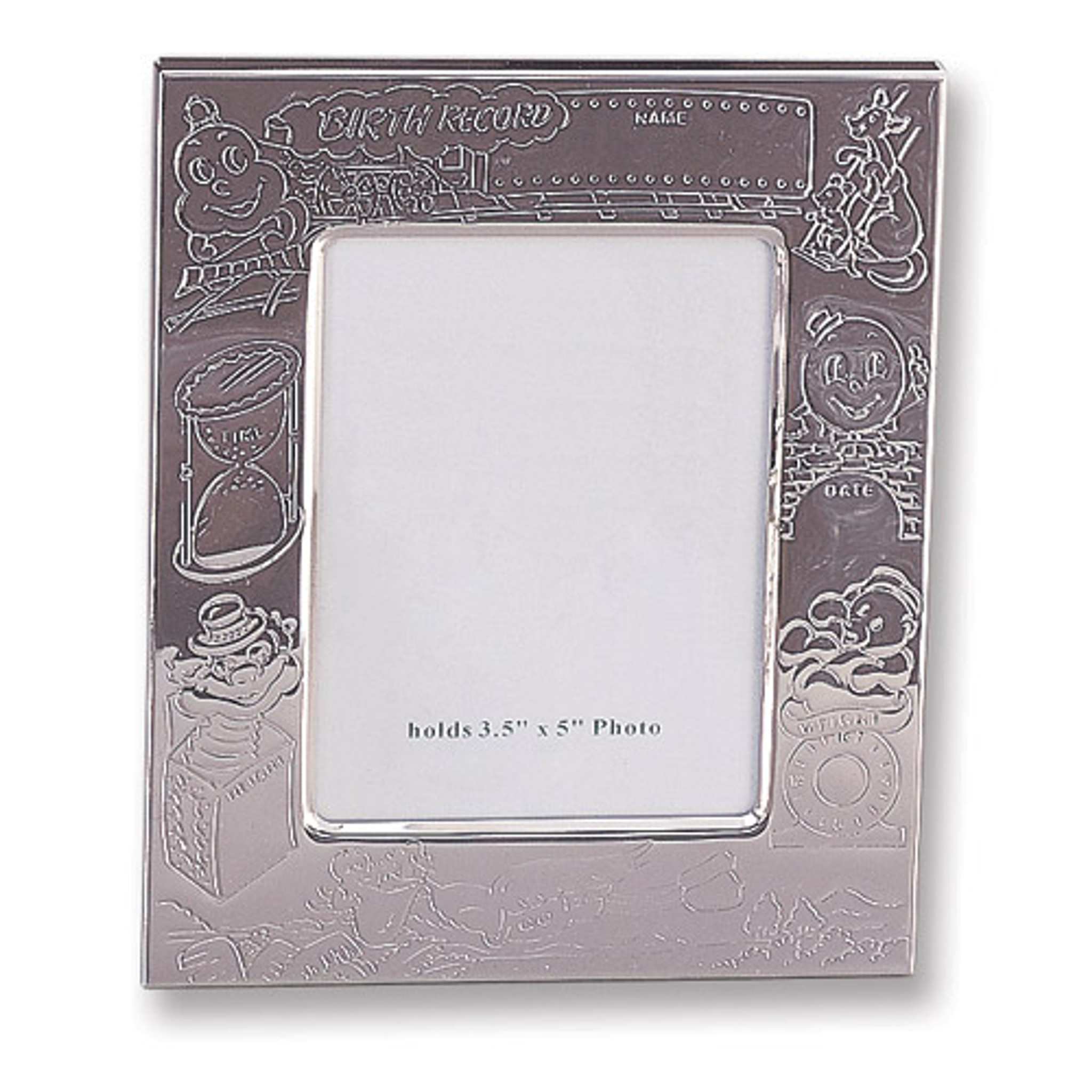 Silver Plated Birth Record 3 5 X 5 Inch Picture Frame