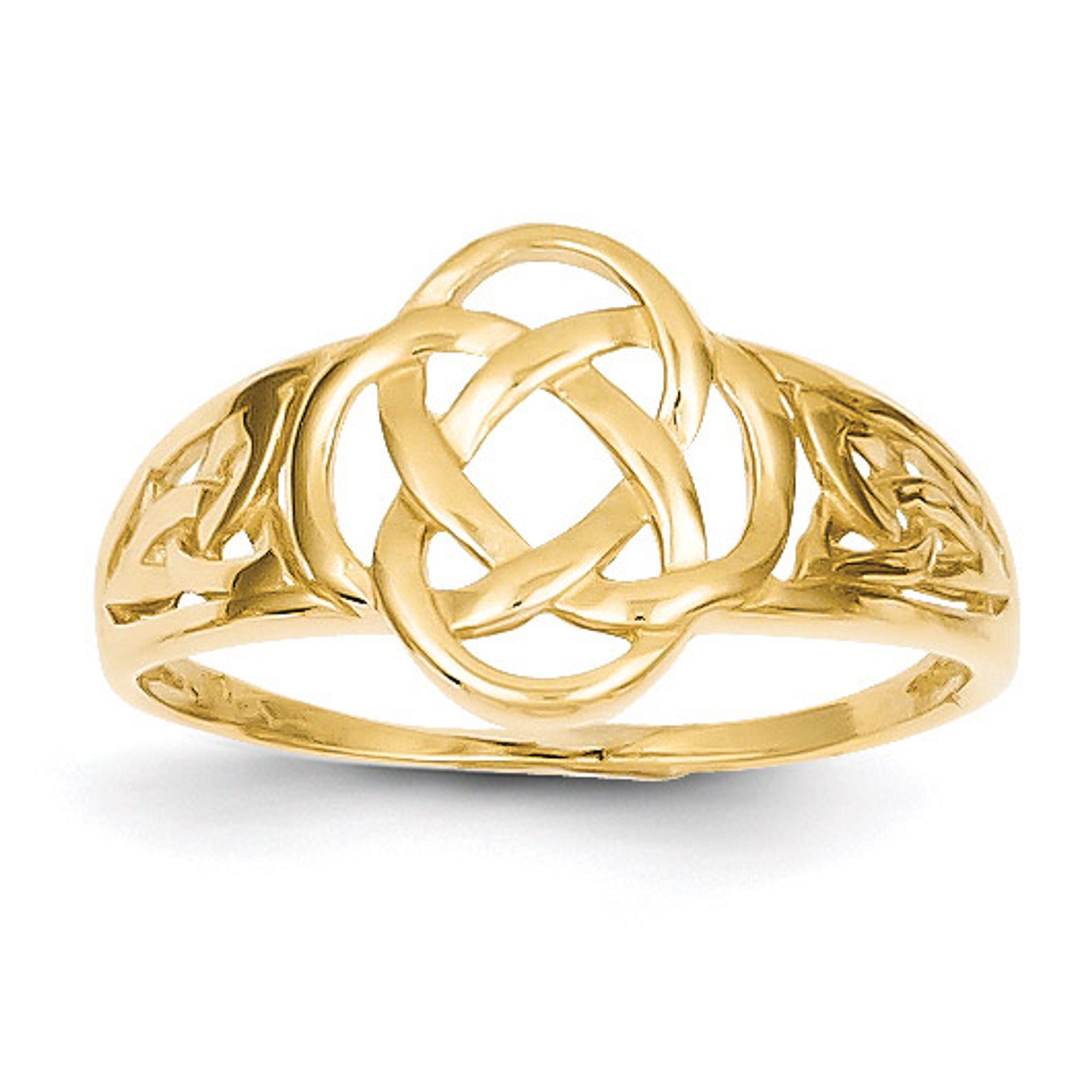 Polished Ladies Celtic Knot Ring 14k Gold Homebello