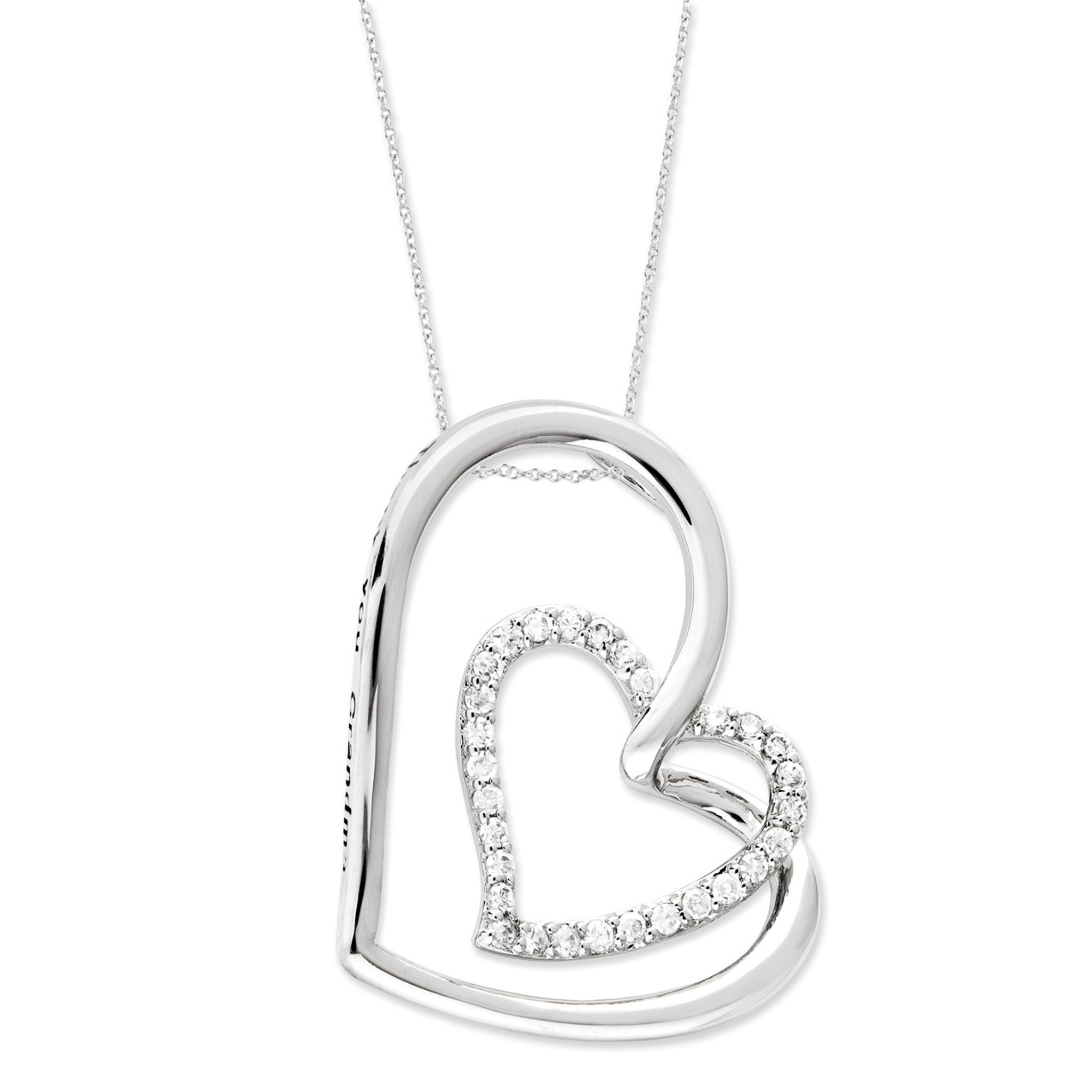 Necklace Sentimental Expressions Sterling Silver Antiqued for You My Love 18in