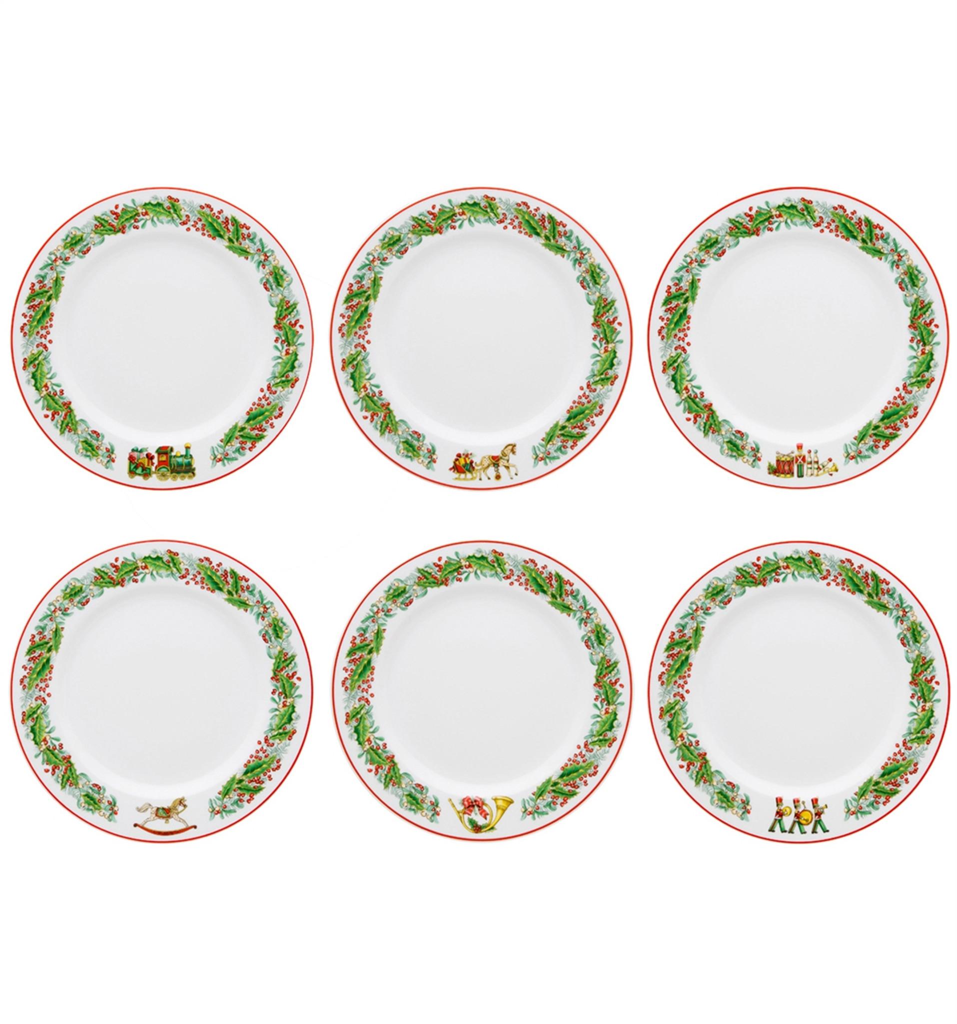 Vista Alegre Christmas Magic Set Of 6 Dessert Plates Homebello