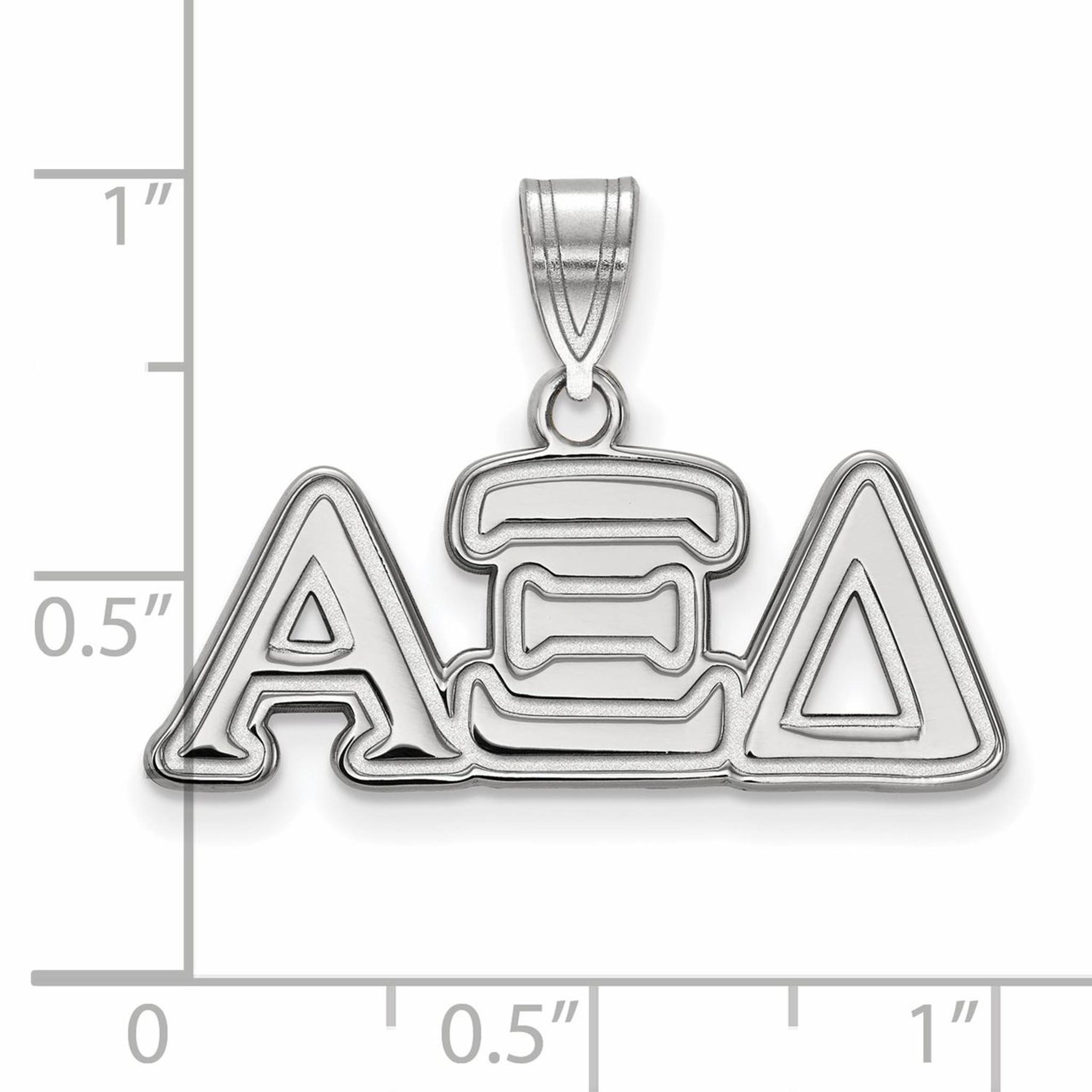 925 Sterling Silver Rhodium-plated Zeta Tau Alpha Medium Sororities Charm Pendant