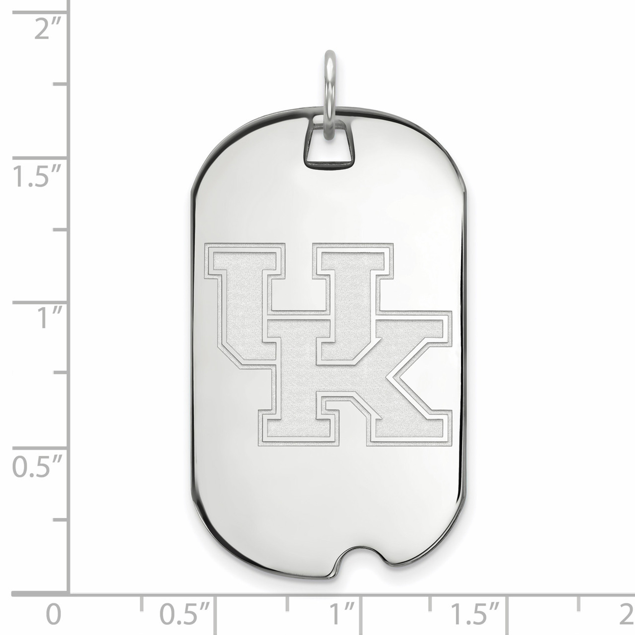 925 Sterling Silver Rhodium-plated Laser-cut University of Kentucky Small Pendant