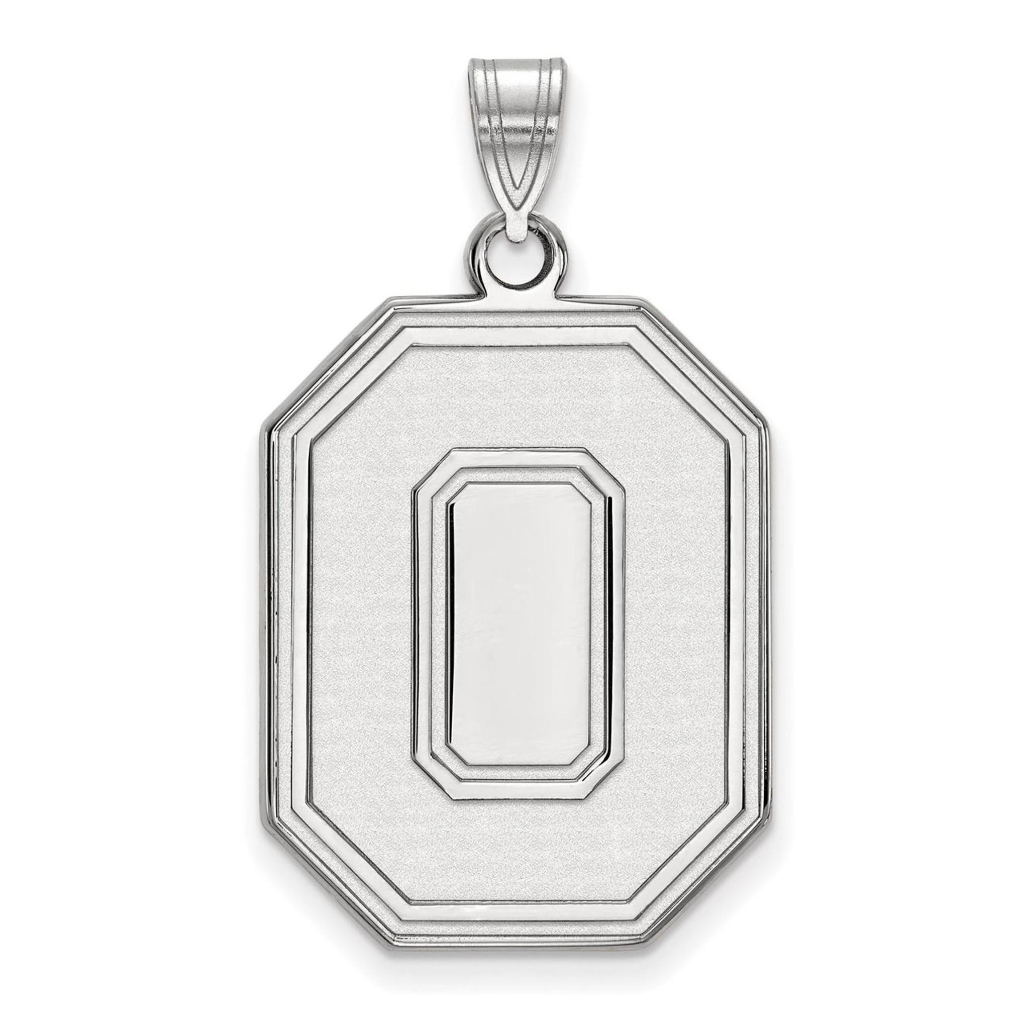 Collegiate Ohio State University Sterling Silver LogoArt Ohio State University Large Enamel Pendant