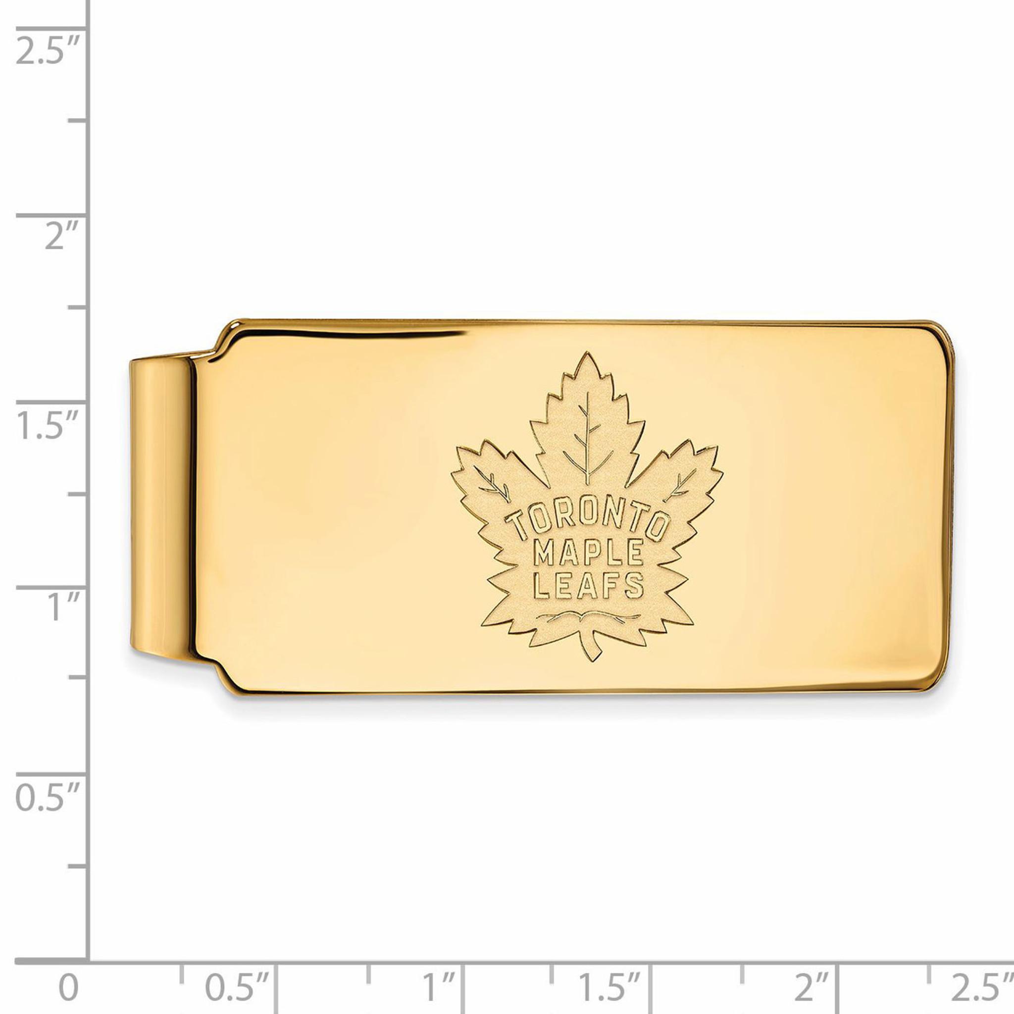 Toronto Maple Leafs Money Clip 14k Yellow Gold 4y015mle Nhl Homebello