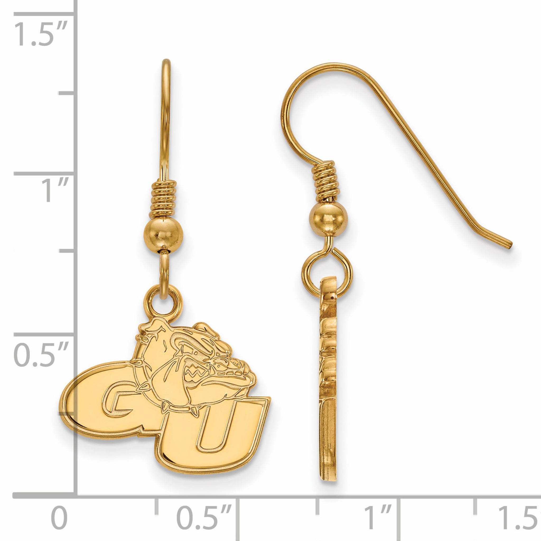 Collegiate Colorado State University Sterling Silver LogoArt Colorado State University Small Dangle Earrings